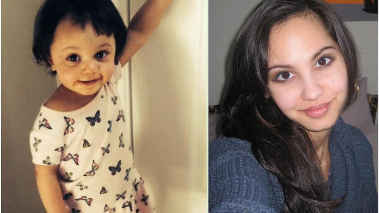 Montage photo de Jasmine Lovett, à droite, et sa fille de 22 mois  Aliyah Sanderson à gauche.