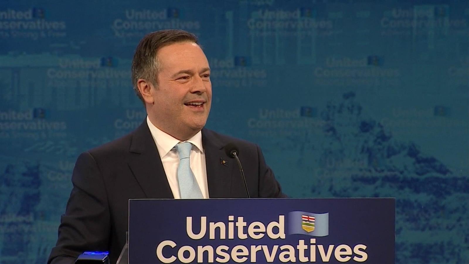 Le premier ministre élu de l'Alberta, le conservateur Jason Kenney.