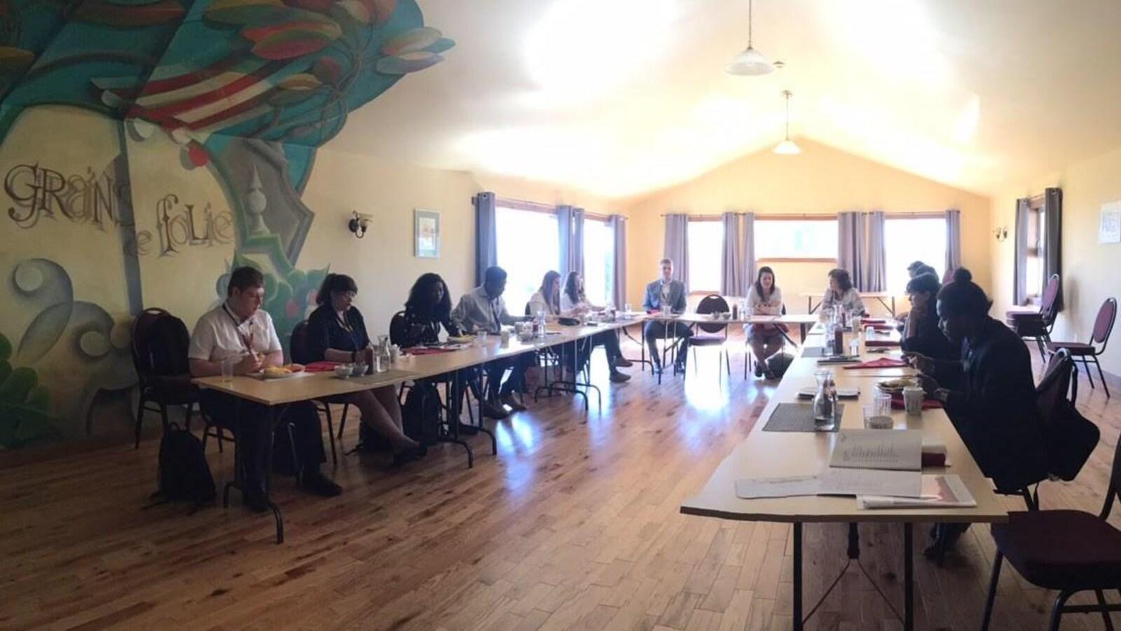 Des participants à l'initiative Je reviens! J'y reste! dans la Péninsule acadienne
