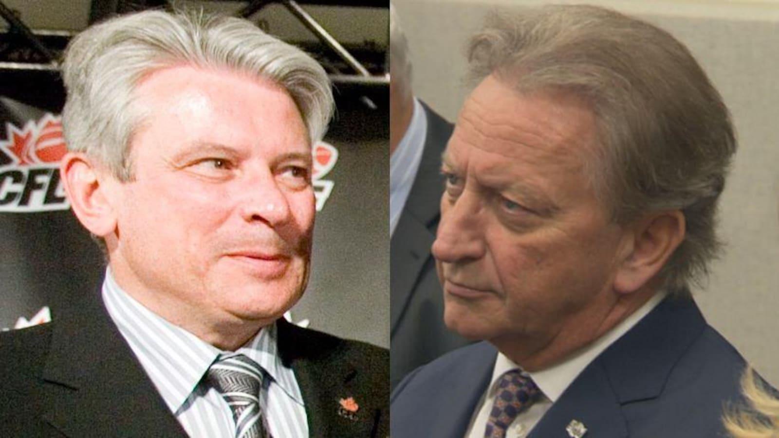 À gauche, John Ruddy et à droite, Eugene Melnyk
