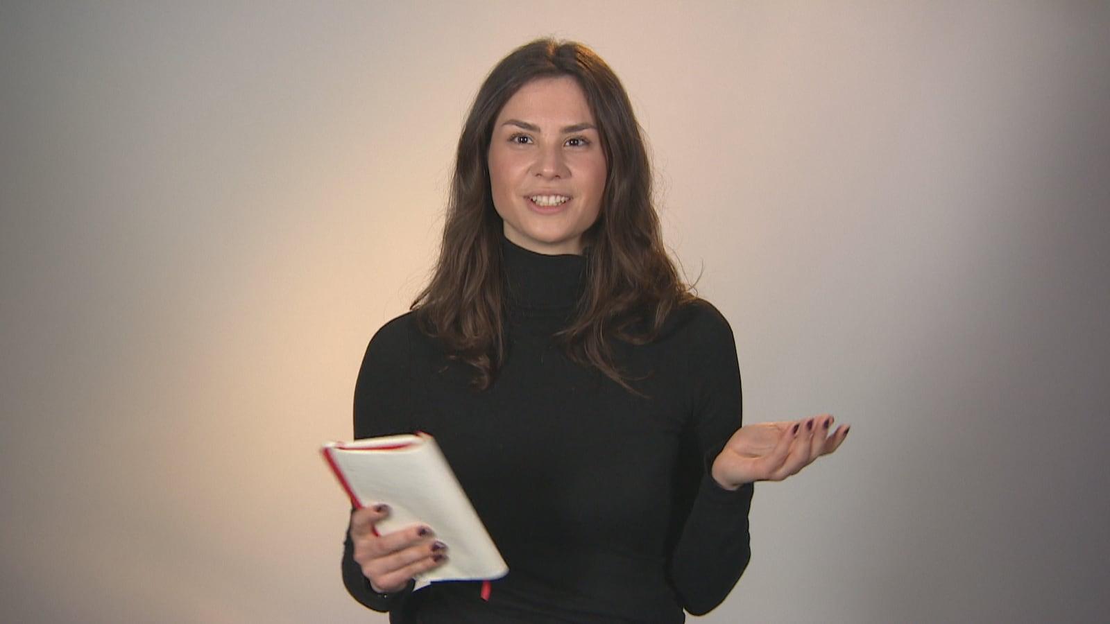 La journaliste Charlotte Mondoux-Fournier parle de son expérience devant la caméra.