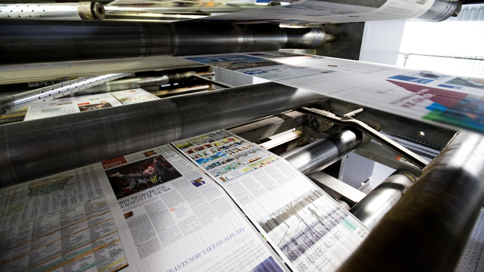 Une presse à imprimer.