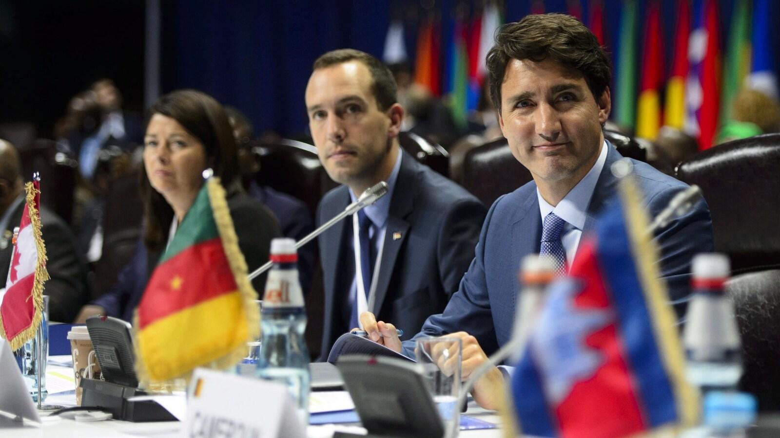 Le premier ministre Justin Trudeau participe à la séance de clôture du Sommet de la Francophonie à Erevan, en Arménie, le vendredi 12 octobre 2018.