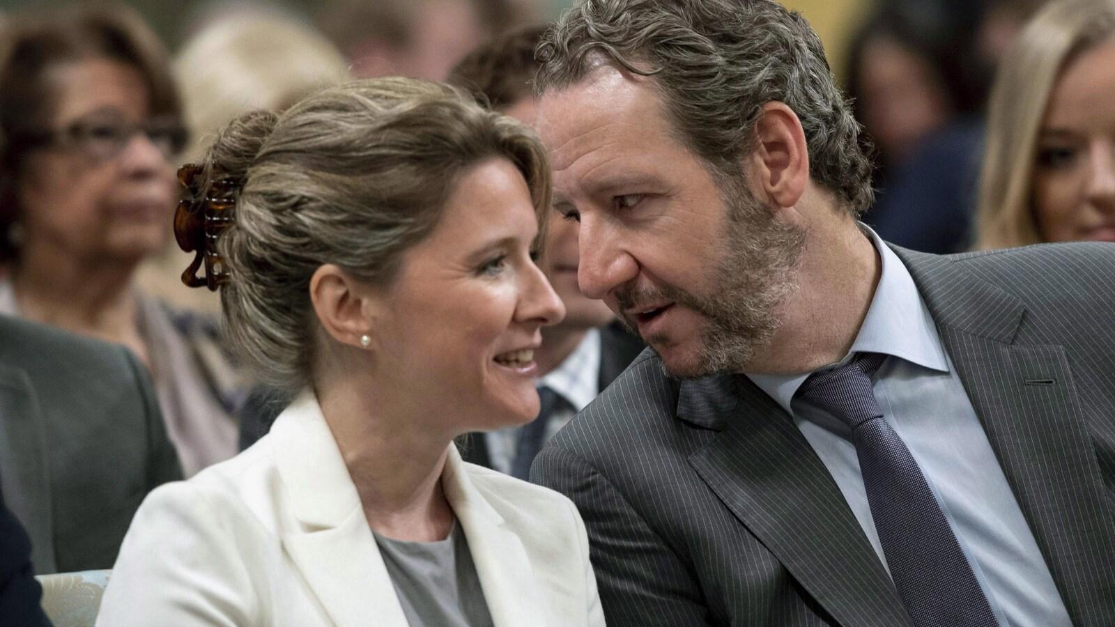 Katie Telford, chef de cabinet du premier ministre, et Gerald Butts, conseiller politique principal de Justin Trudeau