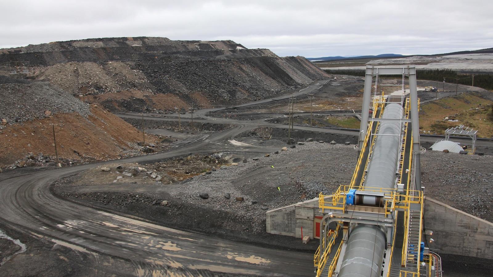 Mine du lac Bloom, près de Fermont