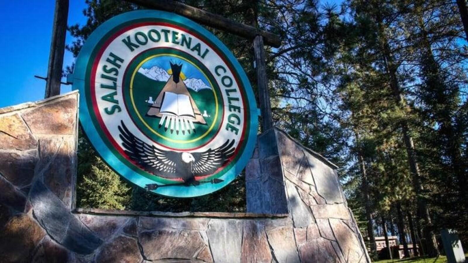 Entrée du collège tribal amérindien de Salish Kootenai
