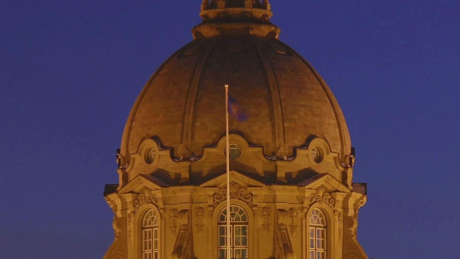 Le dôme de l'édifice de l'Assemblée législative à Edmonton