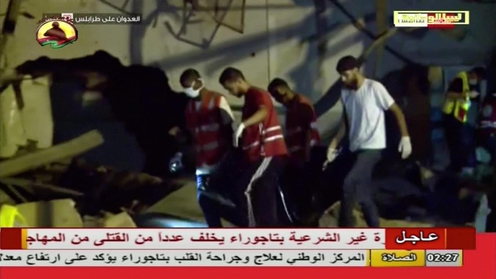 Plus de 40 migrants tués dans un raid aérien en Libye