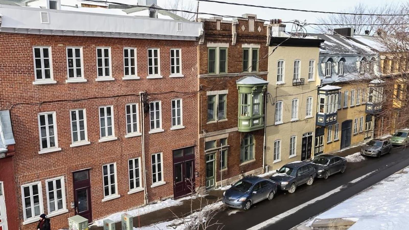 Logements en Haute-Ville de Québec dans le quartier Saint-Jean-Baptiste.