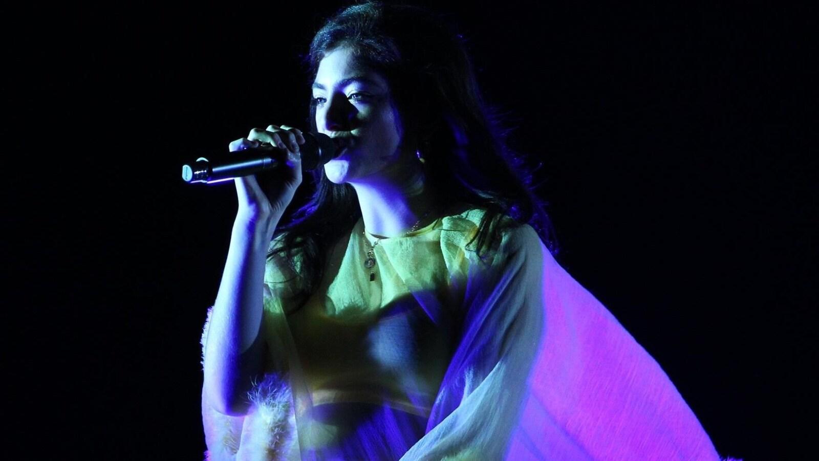 La chanteuse Lorde au Festival d'été de Québec le 13 juillet 2018