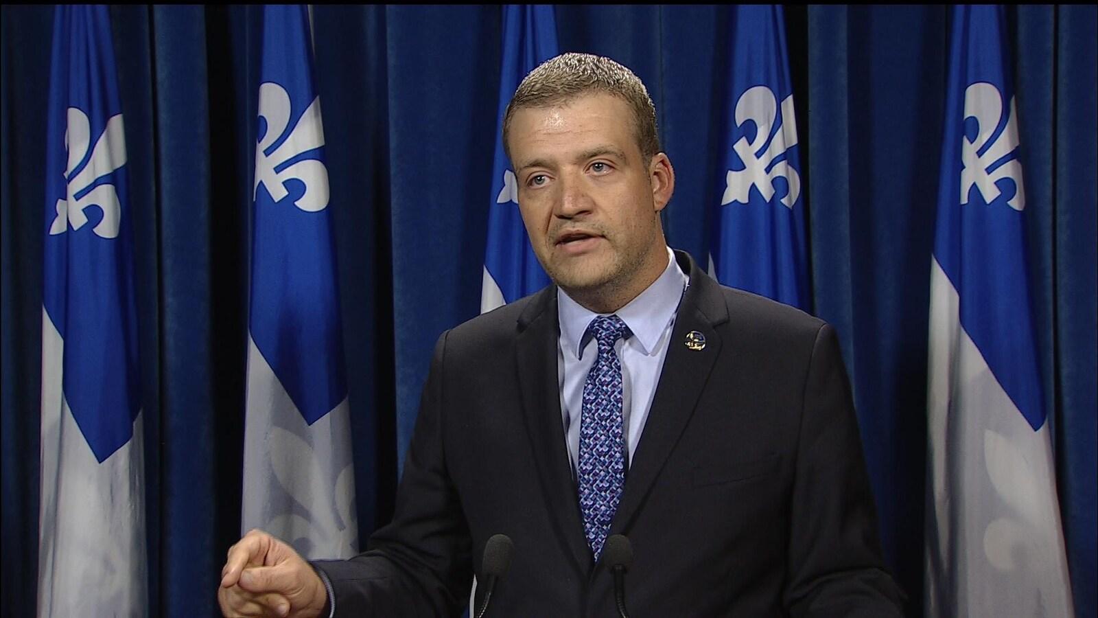 Le ministre québécois de la Culture, Luc Fortin