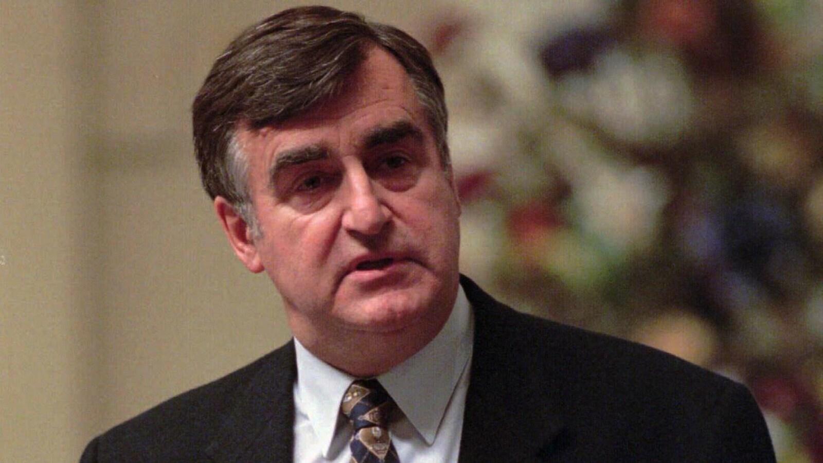 Lucien Bouchard, à l'Assemblée nationale, alors qu'il était premier ministre du Québec.