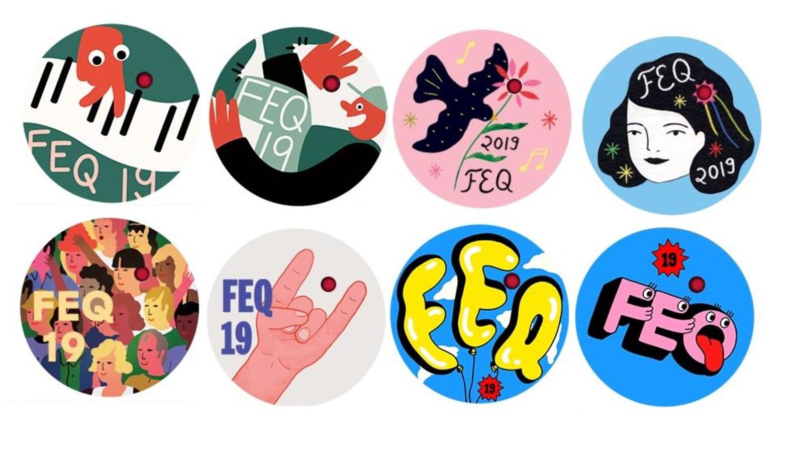 8 images de macarons pour le FEQ