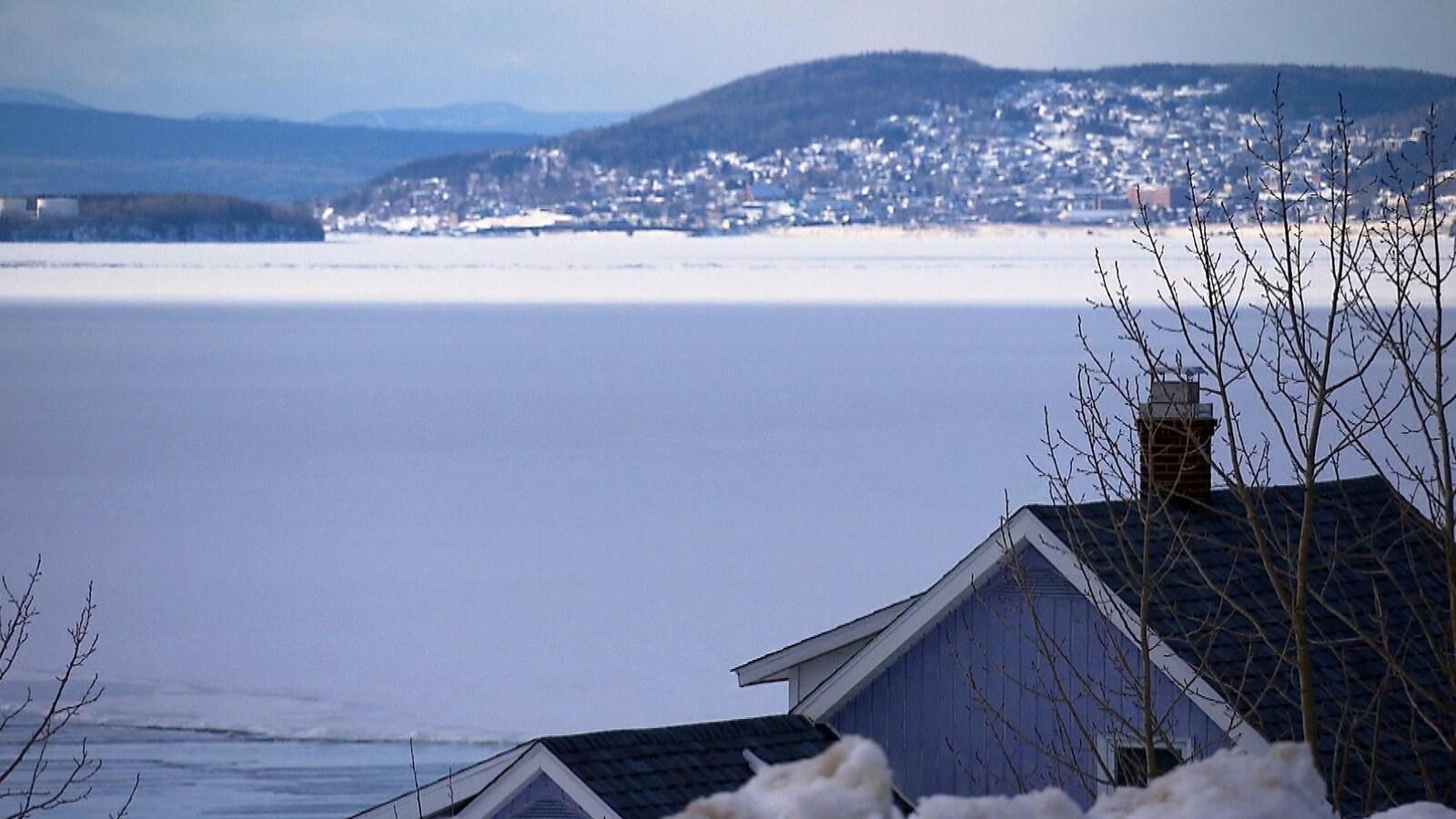 Paysage d'hiver Gaspésien