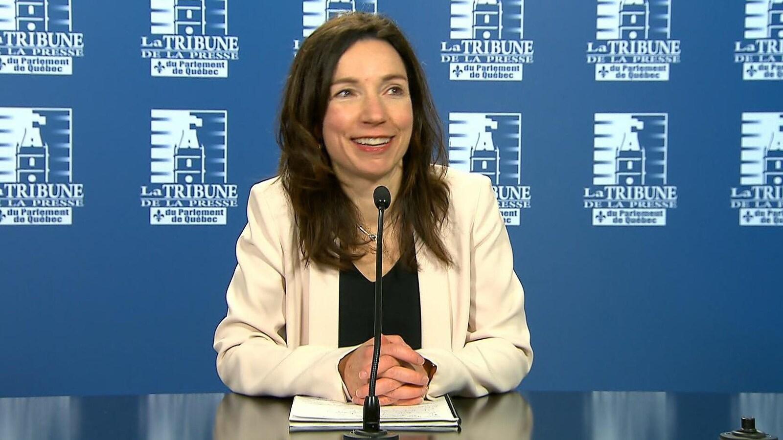 Martine Ouellet, au mois de mars 2017, quelques heures avant de devenir la nouvelle chef du Bloc québécois.