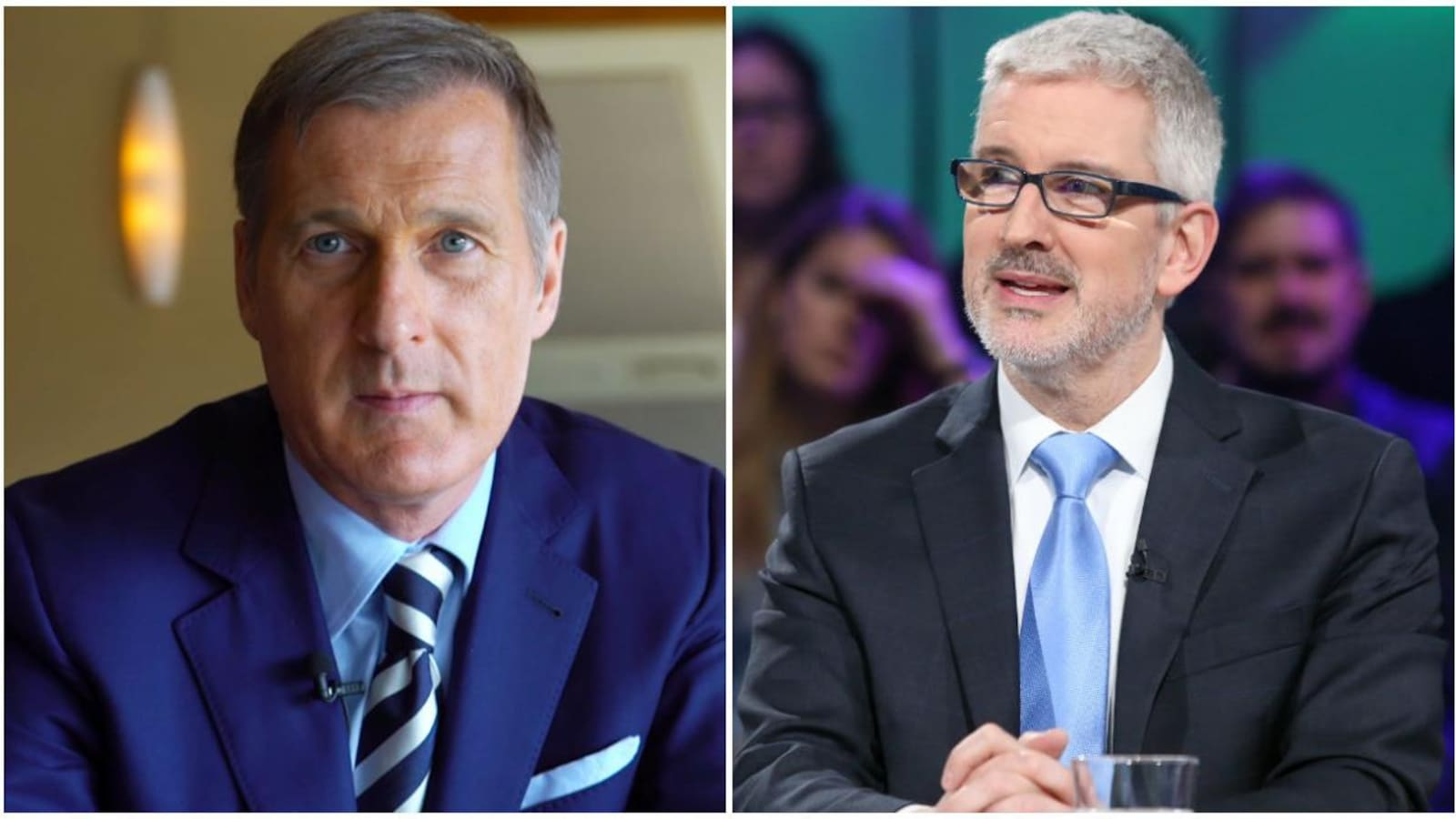 Maxime Bernier et Jean-Martin Aussant.