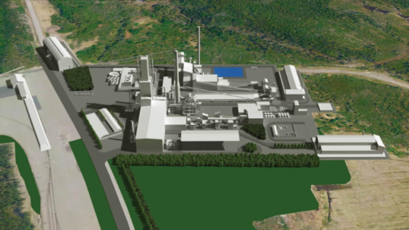 Un plan 3D de l'usine de Métaux BlackRock
