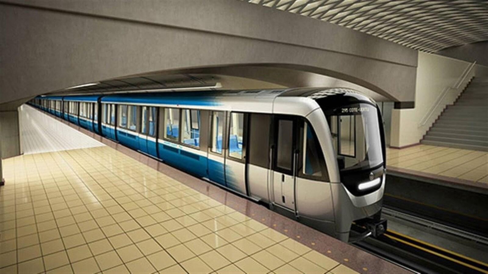 Nouveaux wagons de métro AZUR