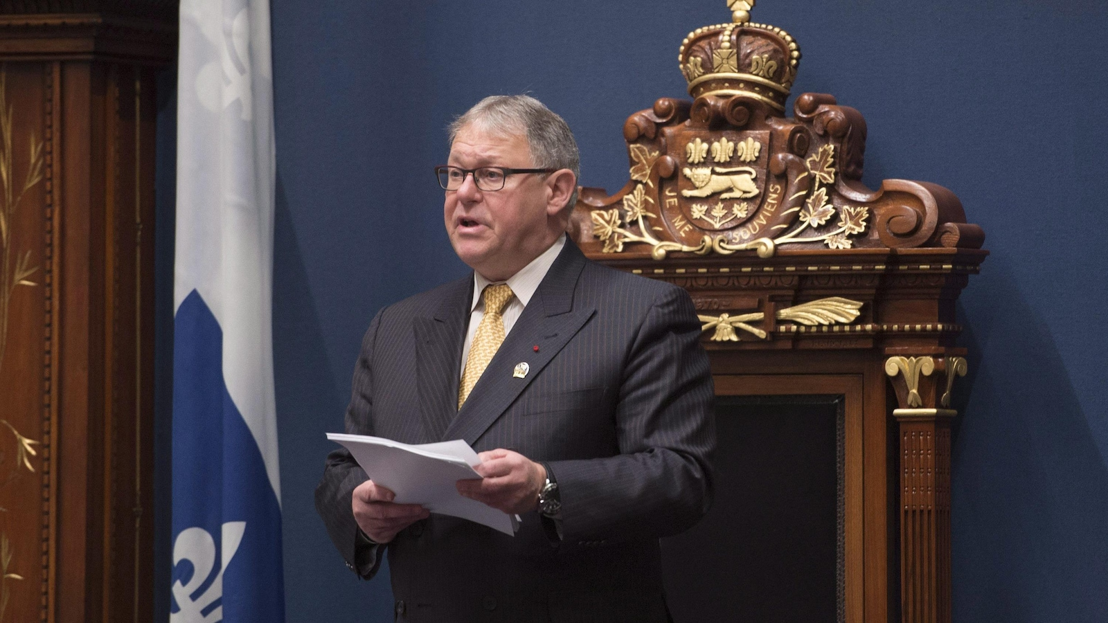 Le président de l'Assemblée nationale Jacques Chagnon.