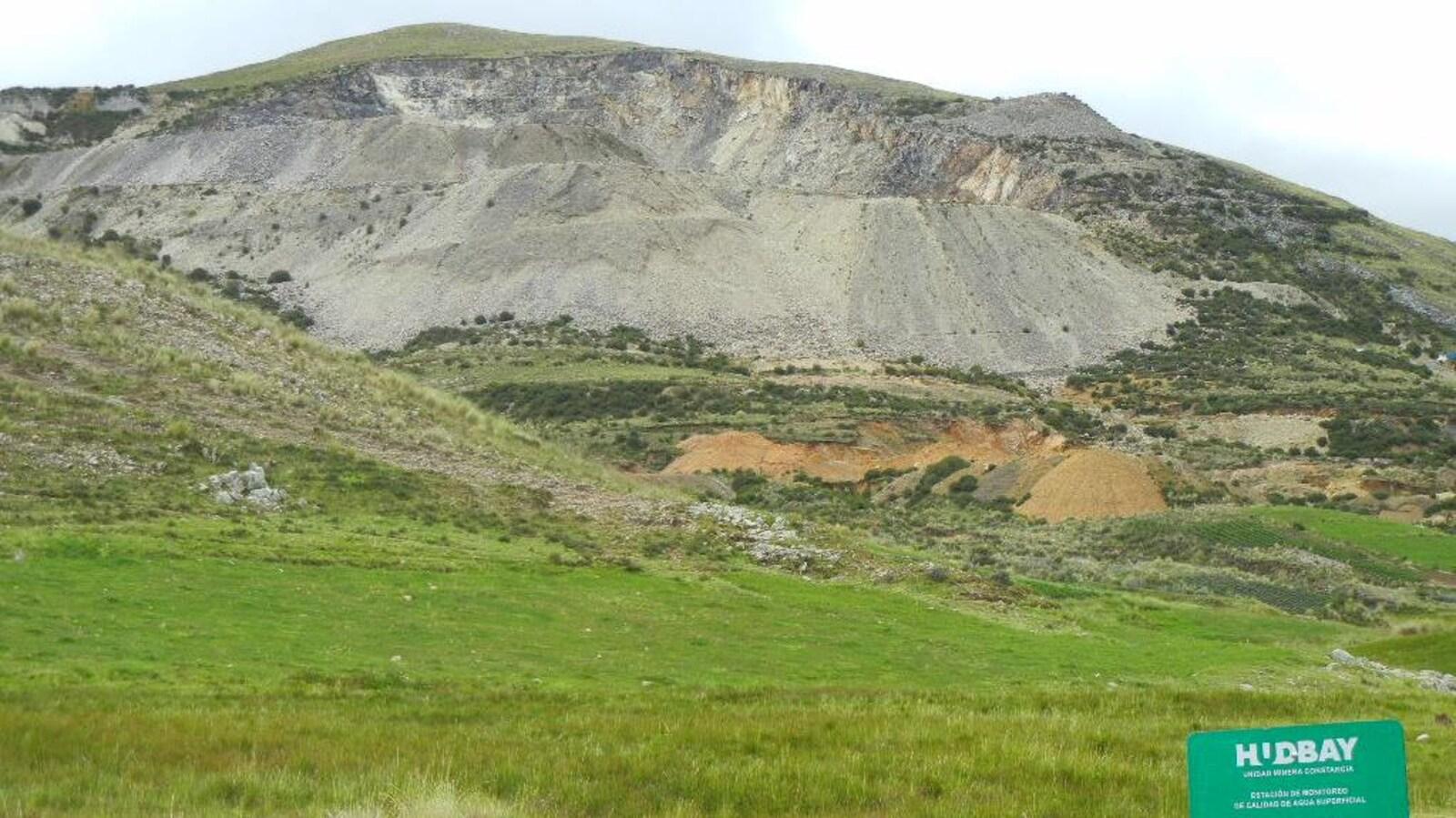 La mine Constancia de la HudBay au Pérou.