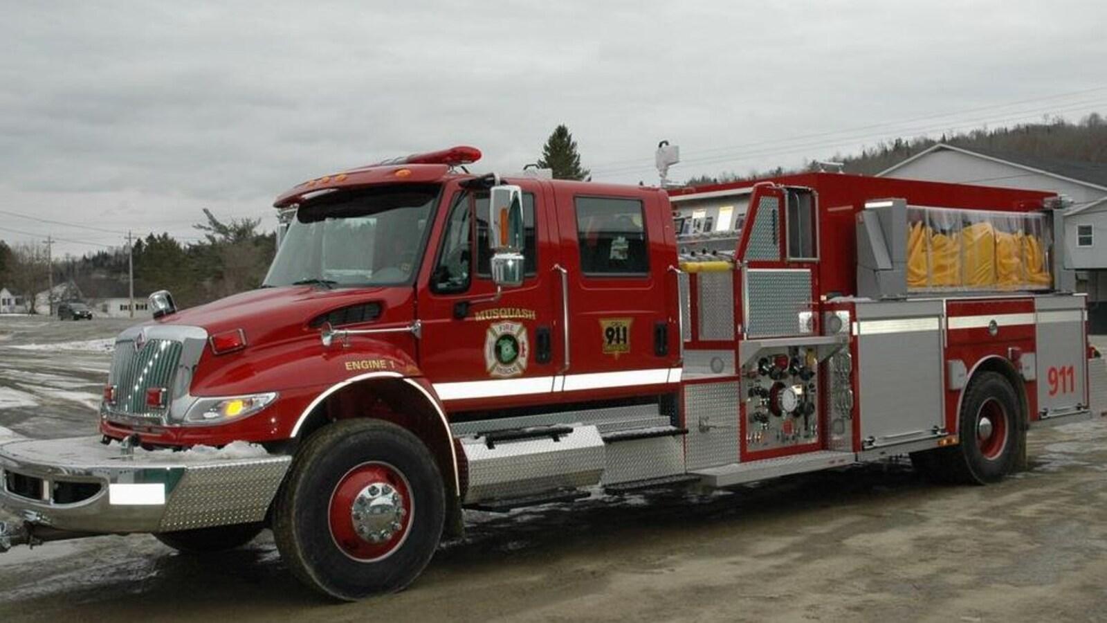 Un camion des pompiers de Musquash.