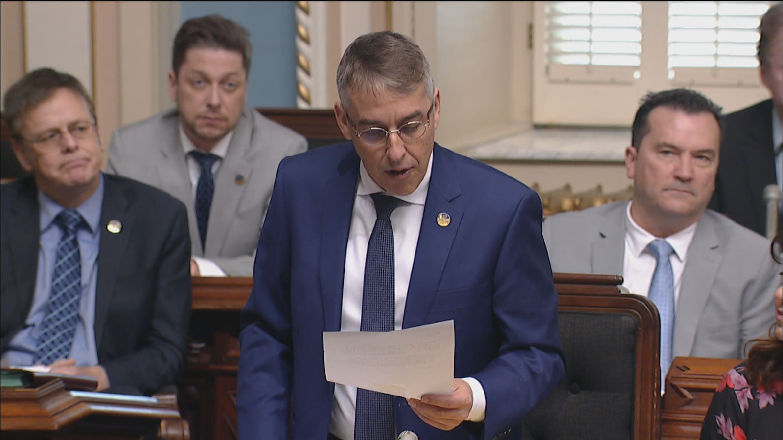Le député Nicolas Marceau a fait la lecture d'une motion réclamant une commission d'enquête publique sur la tragédie de Lac-Mégantic.