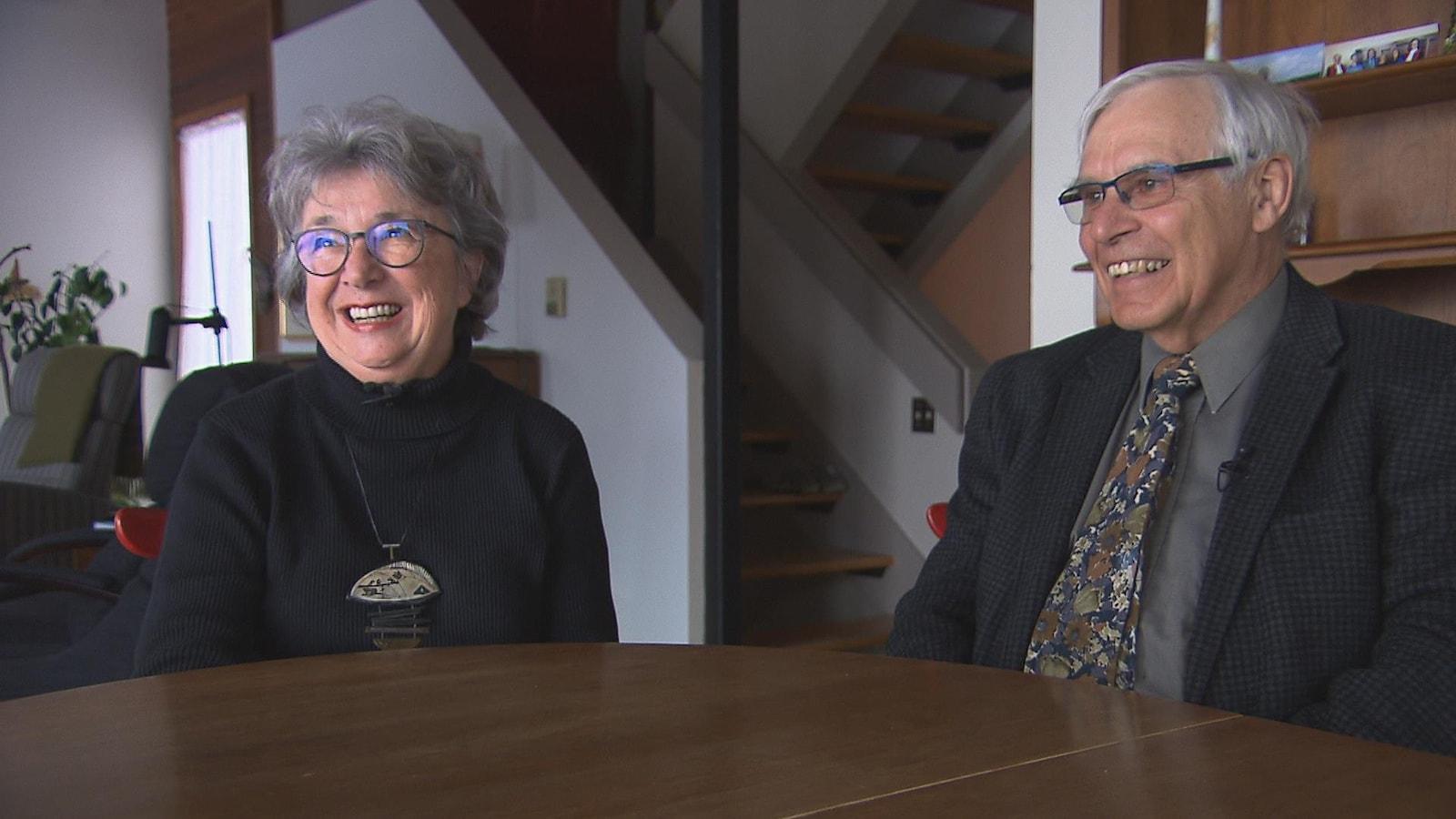 Nicole Demers et Jean Villeneuve, les parents du cinéaste Denis Villeneuve.