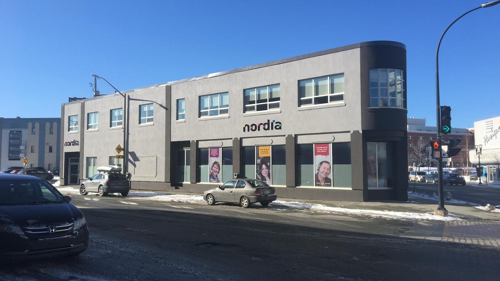 Le centre d'appels Nordia de Rouyn-Noranda.