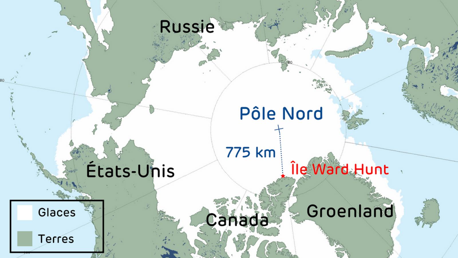 Plusieurs pays revendiquent leur souveraineté sur le pôle Nord, dont le Canada.