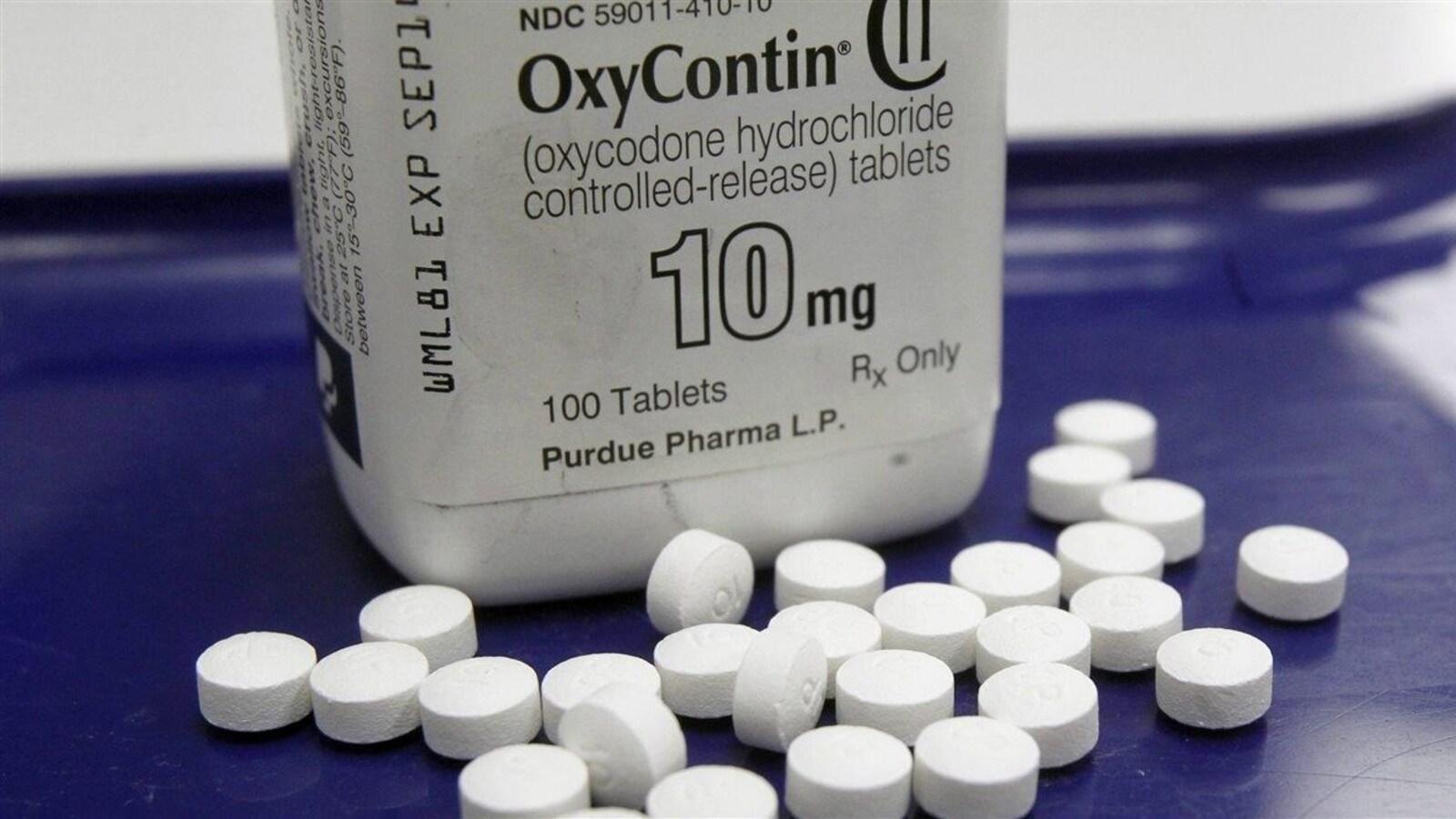 Des comprimés d'OxyContin.