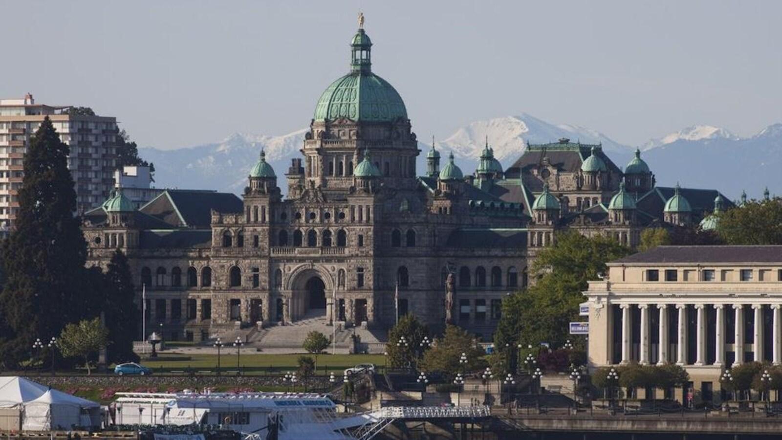 Photo du parlement britanno-colombien à Victoria