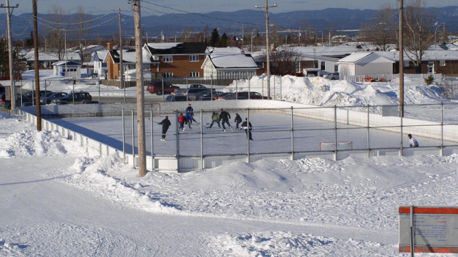 Une patinoire extérieure de la Ville de Sept-Îles