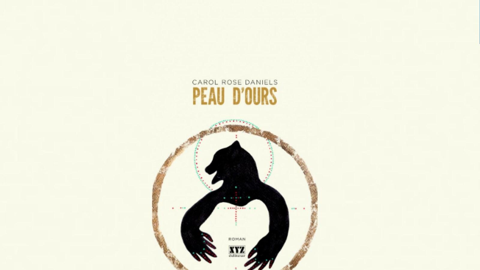 On peut voir l'ombre d'un ours sur la page couverture du roman Peau d'ours.
