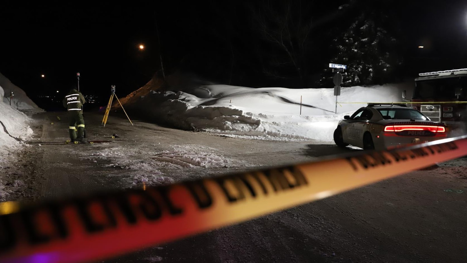 L'accident s'est produit à l'angle des rues Langelier et des Voitures-d'Eau
