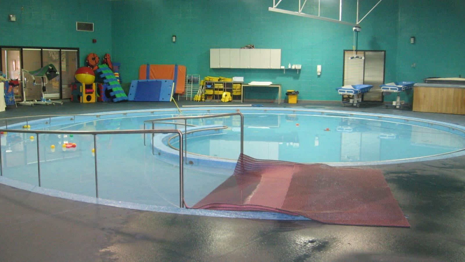 Vue de la piscine.