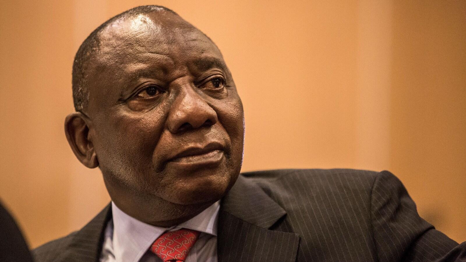 Gros plan de Cyril Ramaphosa