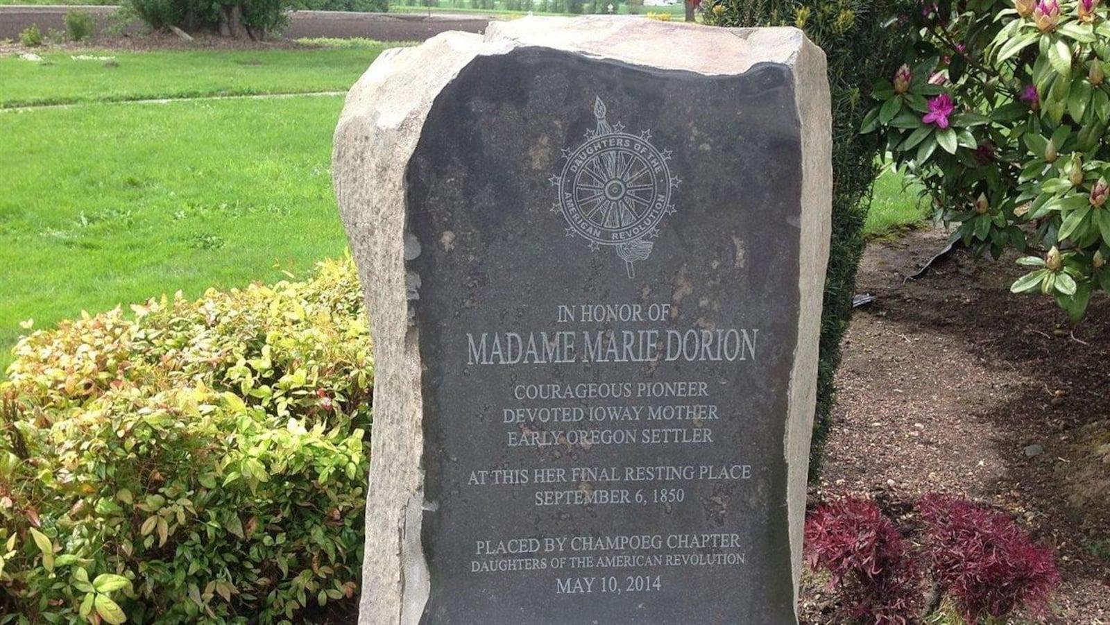 La tombe de Marie Iowa Dorion