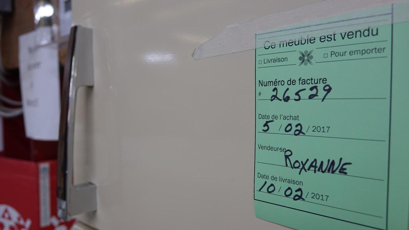 Un réfrigérateur usagé