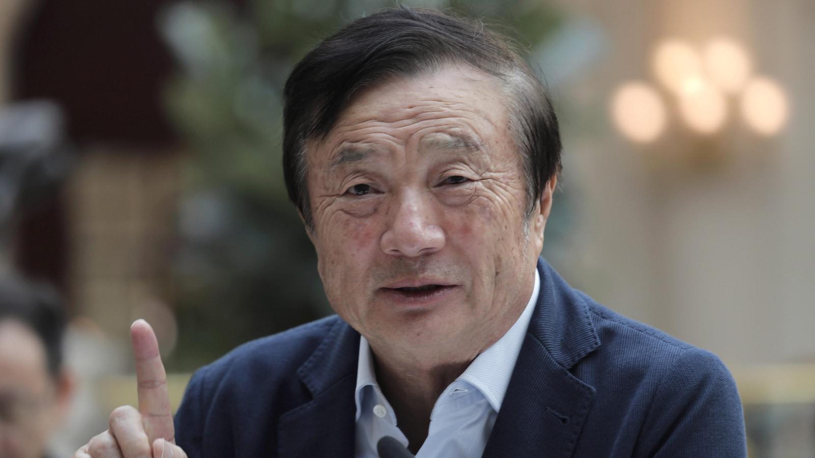Ren Zhengfei, fondateur et PDG de Huawei, lors d'une table ronde avec les médias, le 15 janvier, à Shenzhen dans le sud de la Chine.