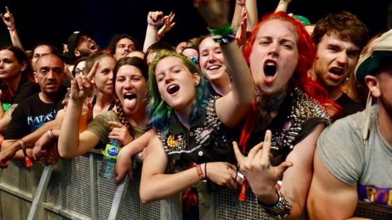Une foule au Rockfest