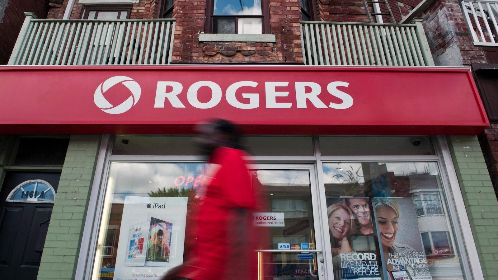 Devanture d'une succursale de la compagnie Rogers.