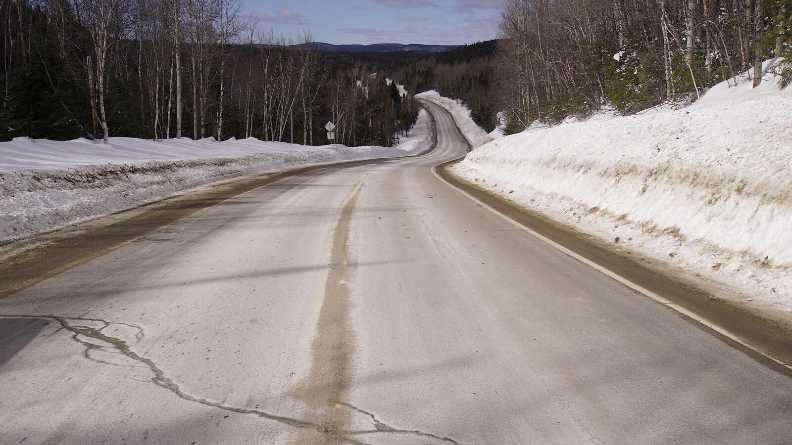 La route 389 en hiver