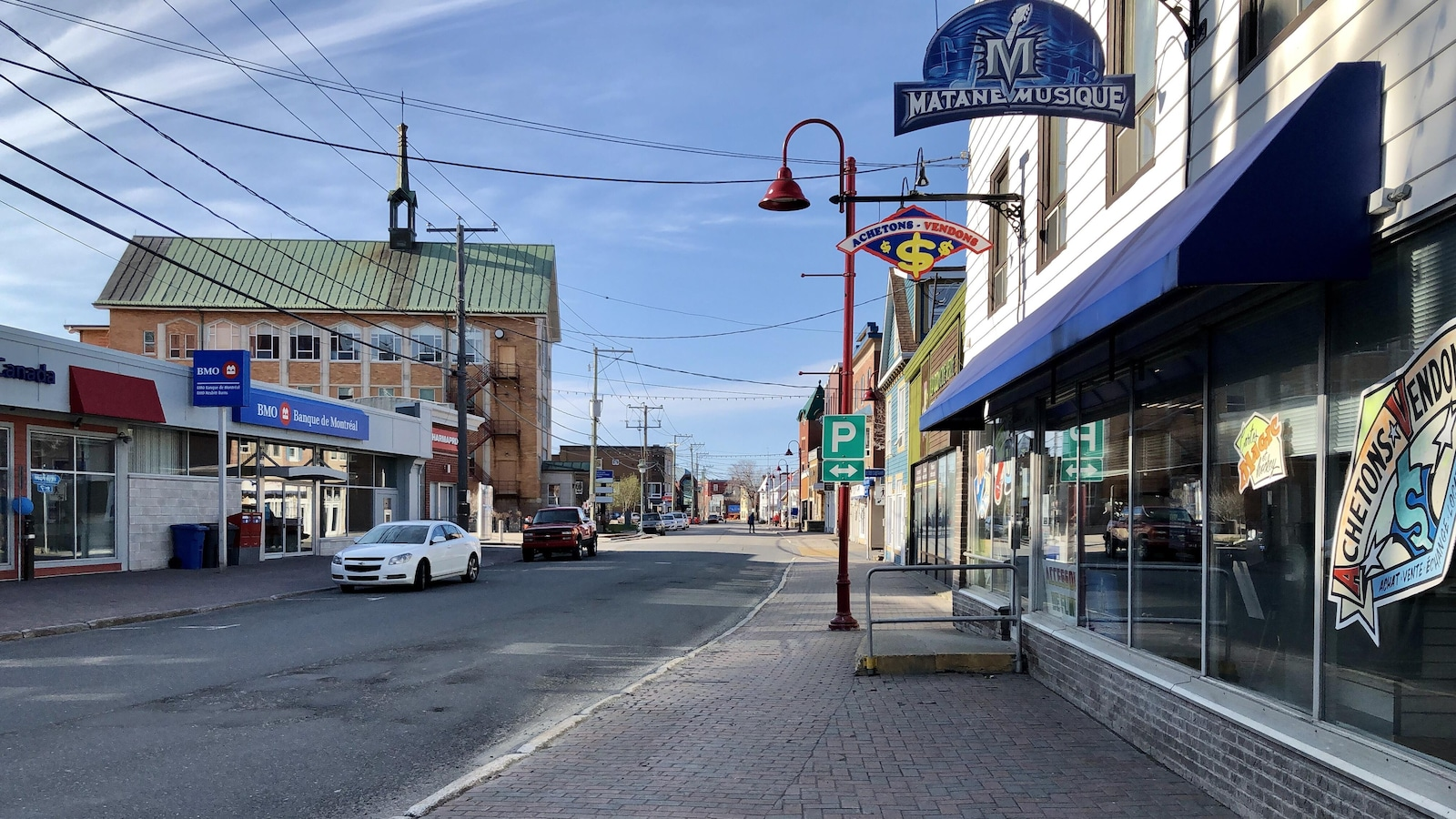 La rue Saint-Jérôme, au centre-ville de Matane