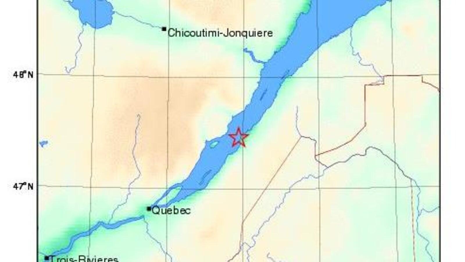 Un séisme près de La Pocatière.