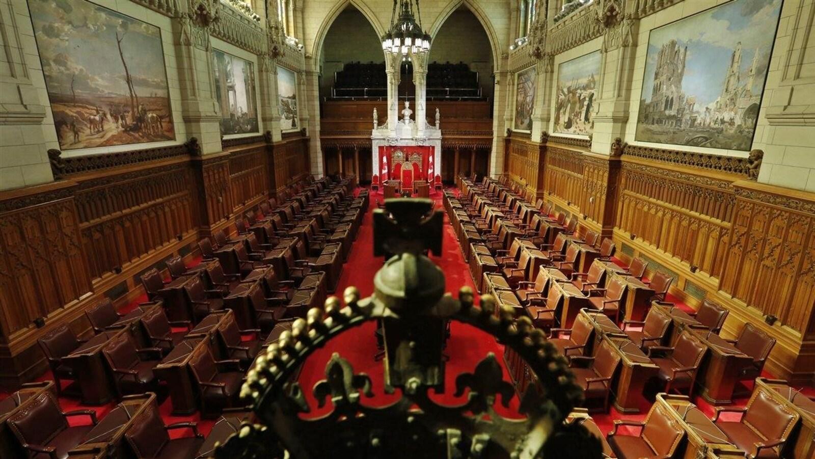 Une vue du Sénat à Ottawa.