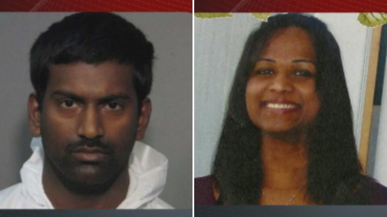 Sivaloganathan Thanabalasingam et sa présumée victime Anuja Baskaran. Photos : La Presse