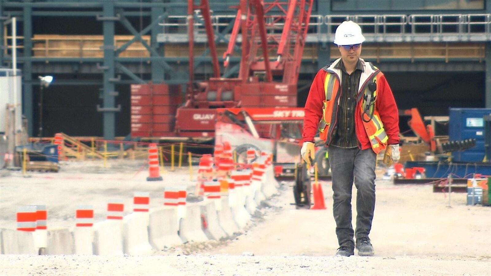 Un travailleur de la construction.