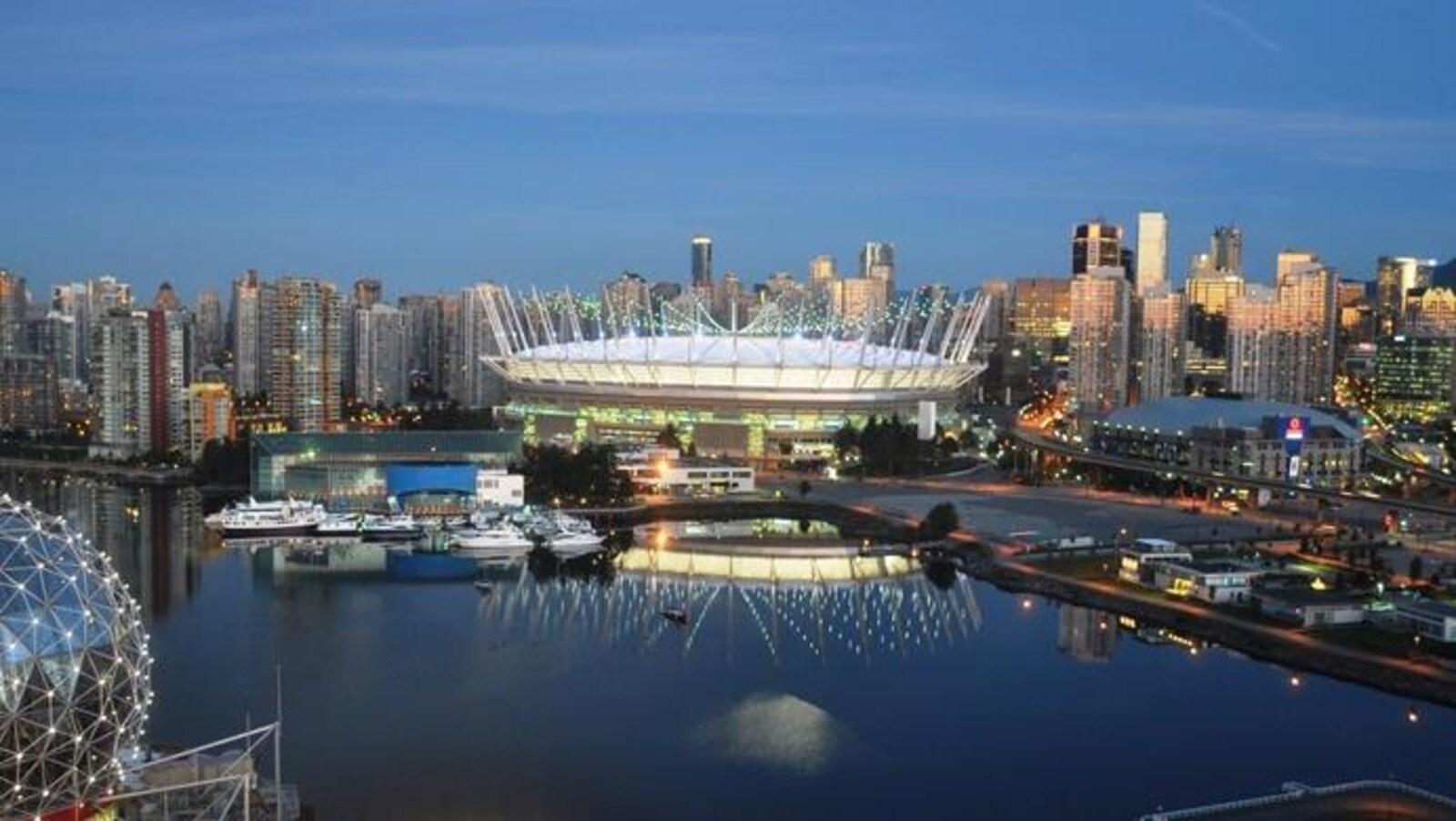 Le stade BC Place de Vancouver