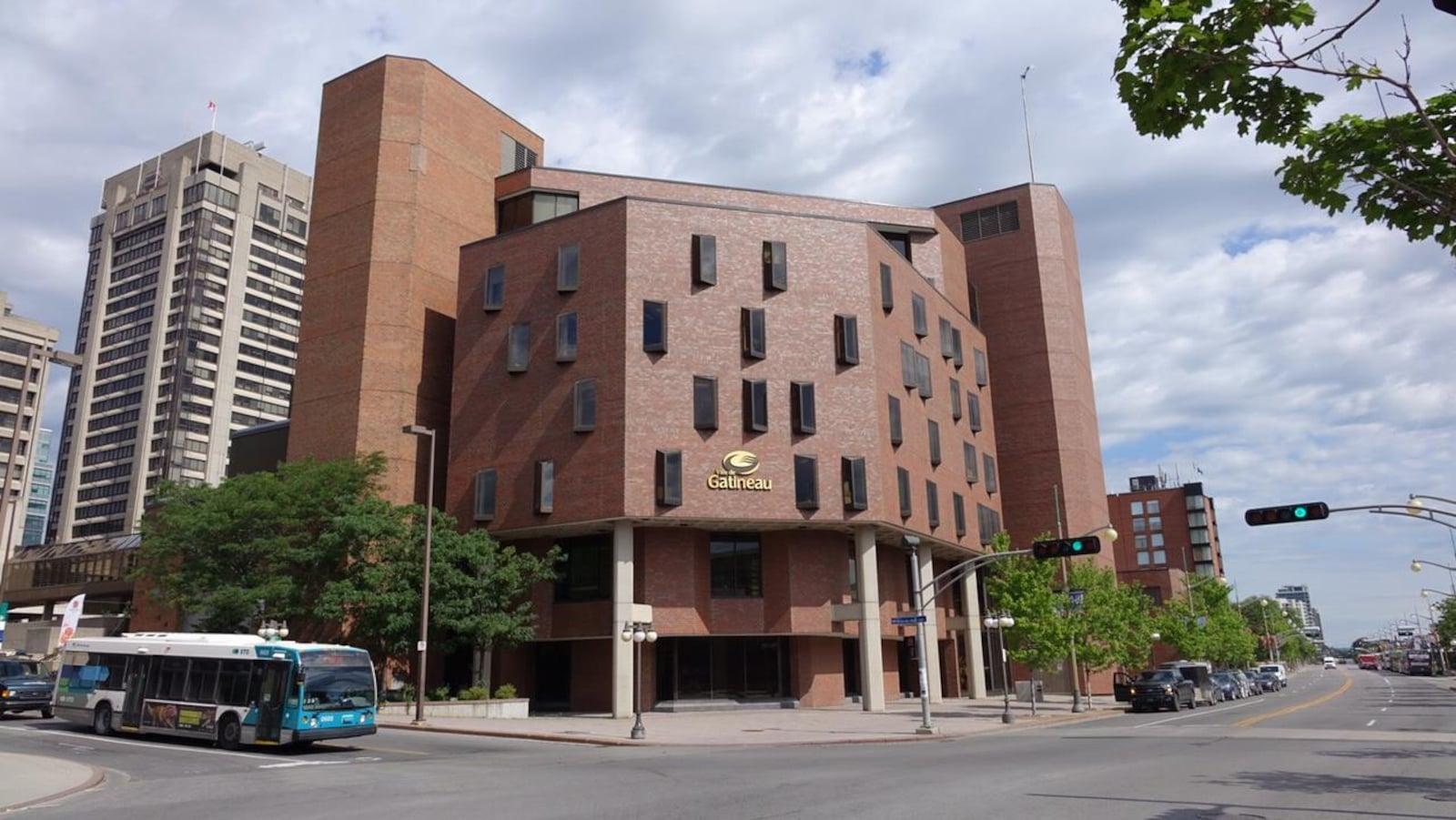 L'édifice de brique de la Maison du citoyen