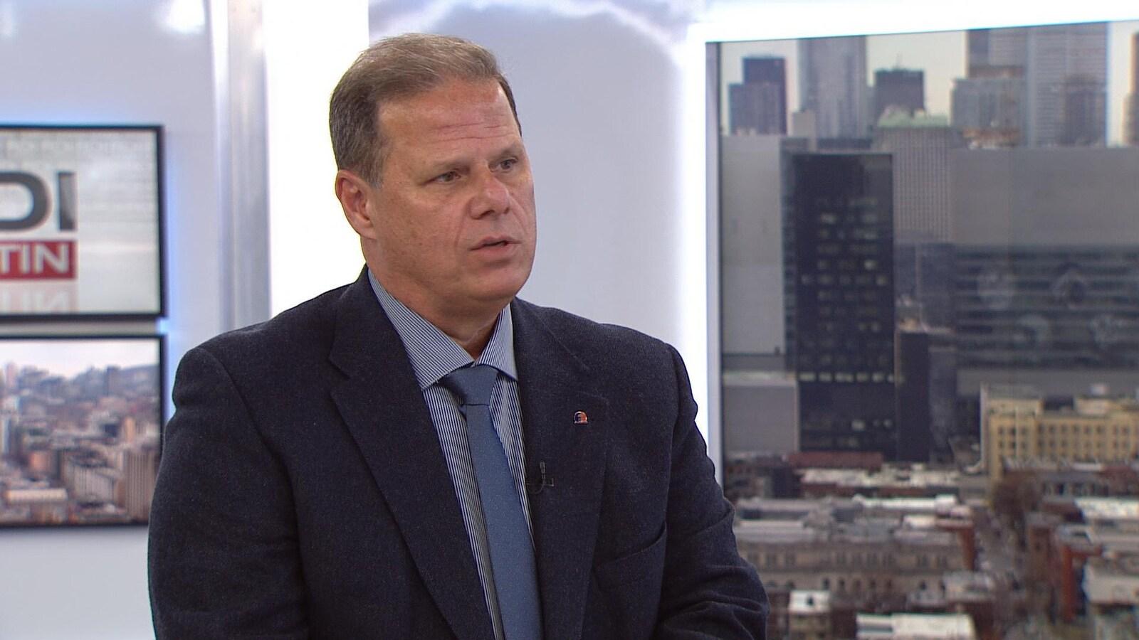 Yves Francoeur, président de la Fraternité des policiers et policières de Montréal.